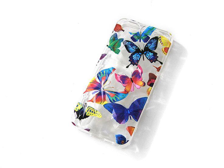 IPHONE 5 Θήκη 3D Σκληρή διάφανη με χρωματιστές πεταλούδες μόνο €7.90