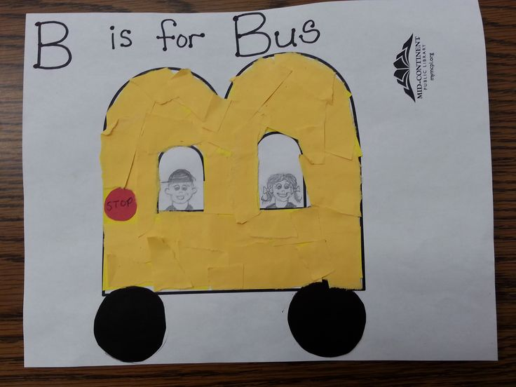 B is for Bus Letter Craft