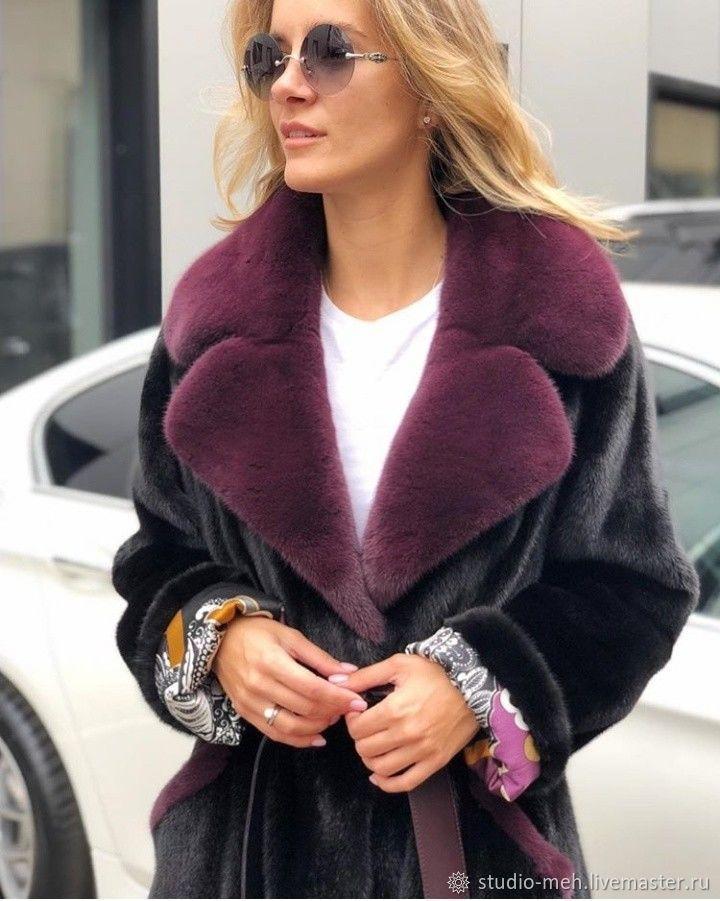 b31205cc60d Меховое пальто из норки - купить или заказать в интернет-магазине на  Ярмарке Мастеров