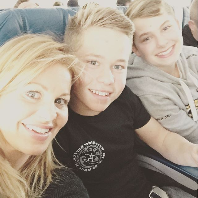 "Pin for Later: Candace Cameron Bure's Sweet Family Snaps Couldn't Be Cuter  Candace: ""And vacation continues.... @levbure @natashabure #maksbure."""