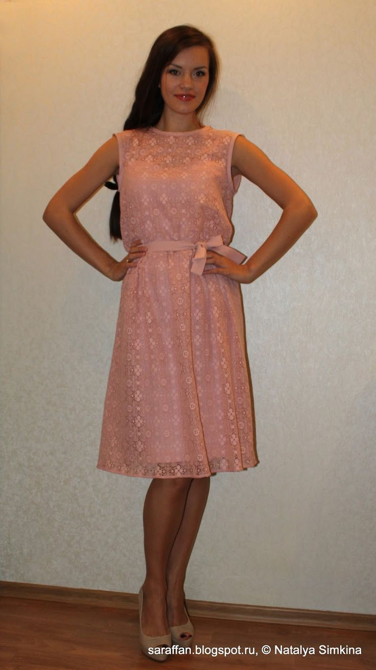 Saraffan: Двойное платье лен + кружево