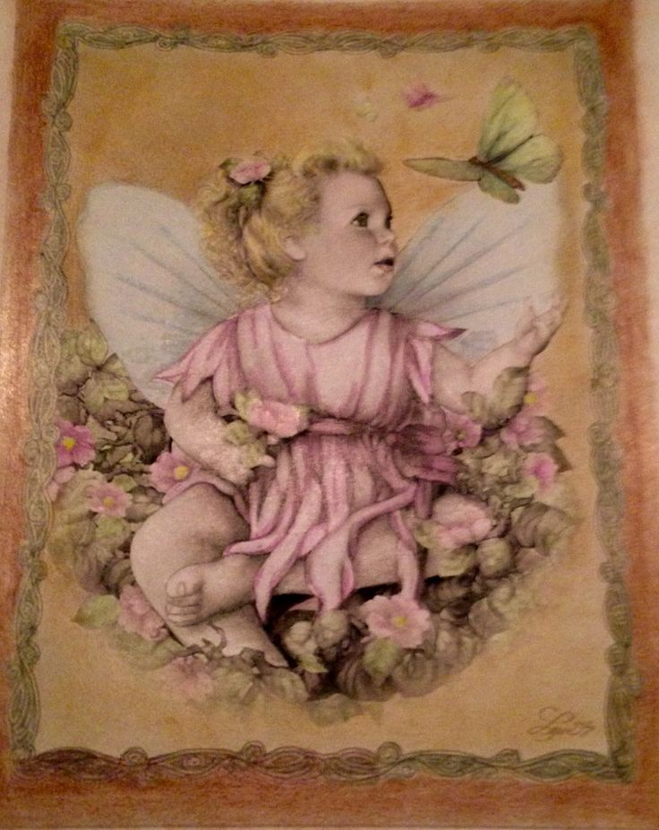 Fairy girl met pastel en derwentpotloden