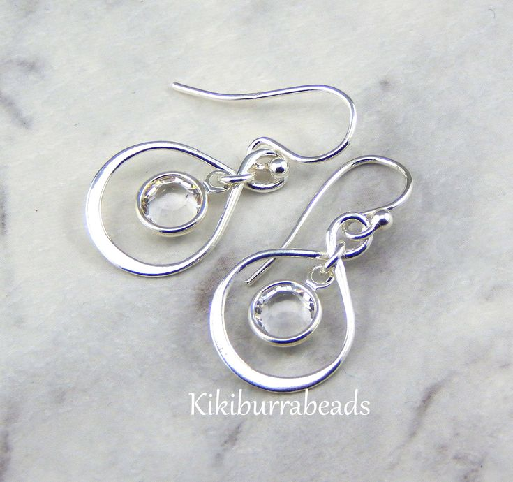 April Birthstone Earrings,Personalized Infinity Earrings,Diamond,April Birthstone Jewelry,Birthday Gift by Kikiburrabeads on Etsy