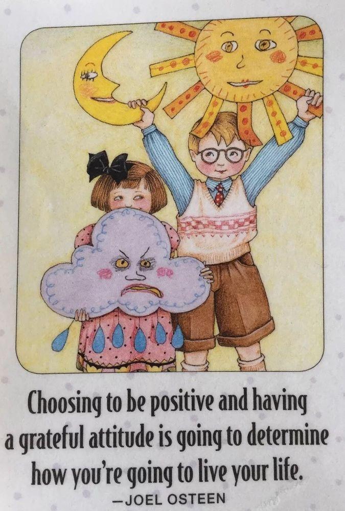 Choosing To Be Positive-Handmade Fridge Magnet-Mary Engelbreit Artwork