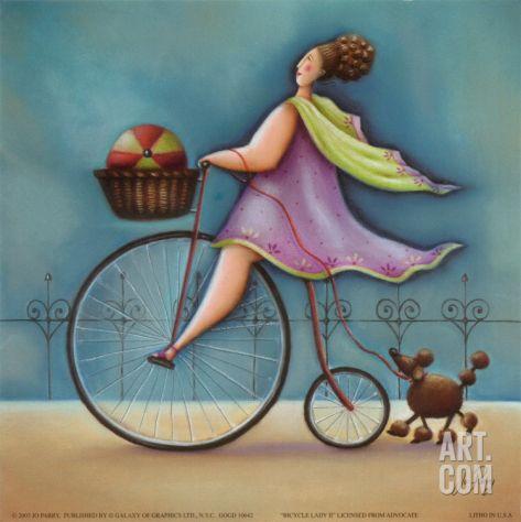 Bicycle Lady II Print, de Jo Parry