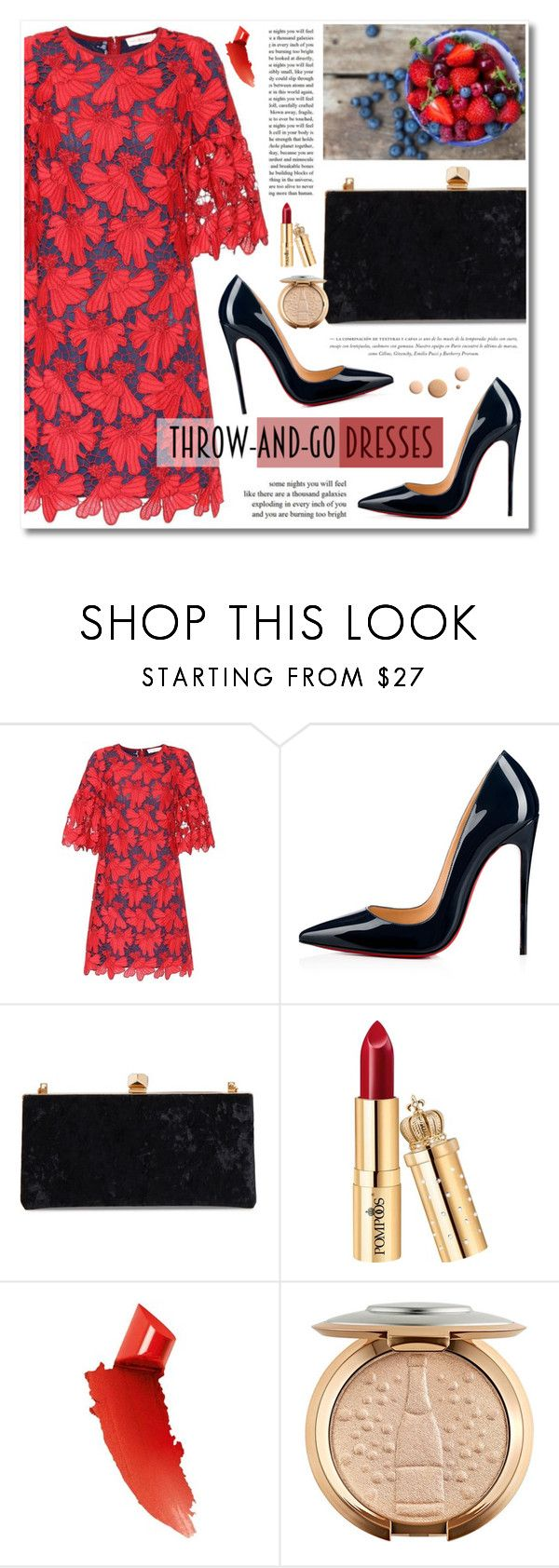 """""""Easy Outfitting: Throw-and-Go Dresses"""" by merima-kopic ❤ liked on Polyvore featuring Privé, Tory Burch, Christian Louboutin, Jimmy Choo, By Terry and CC"""