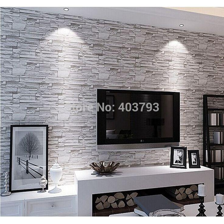 43.30$  Watch now - http://alijqq.worldwells.pw/go.php?t=32277304244 - New 3D Luxury Wood Blocks Effect Brown Stone Brick 10M Vinyl Wallpaper Roll Living Room Background Wall Decor Art Wall Paper 43.30$