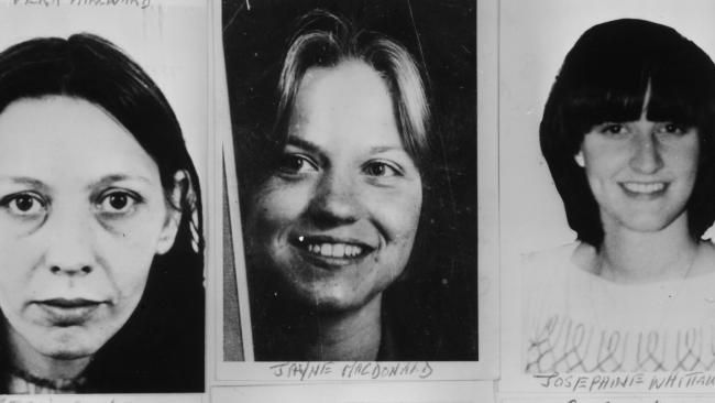 Three of the young women murdered by Peter Sutcliffe, known as the Yorkshire Ripper.
