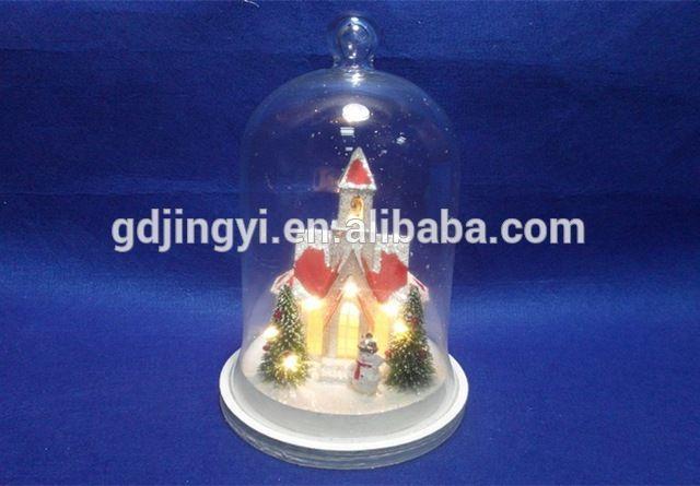 hoge kwaliteit led verlichting glazen stolp met koepels huis xmas decor-inkerst decoratie benodigdheden van Feestelijke& feestartikelen op m.dutch.alibaba.com.