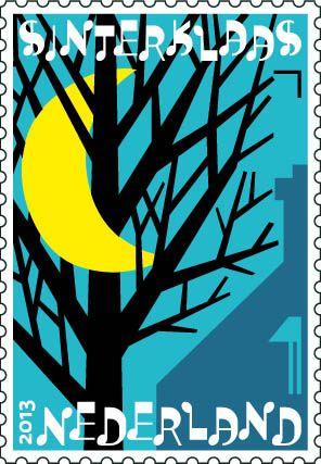 Sinterklaaspostzegels 2013: Zie de maan schijnt door de bomen