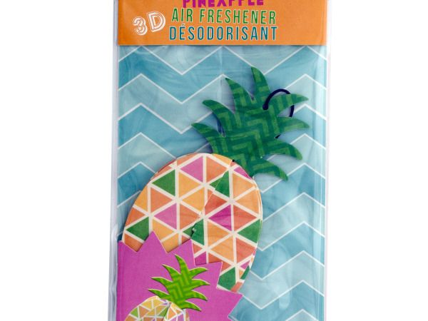 3D Pineapple Air Freshener ( Case of 48 )