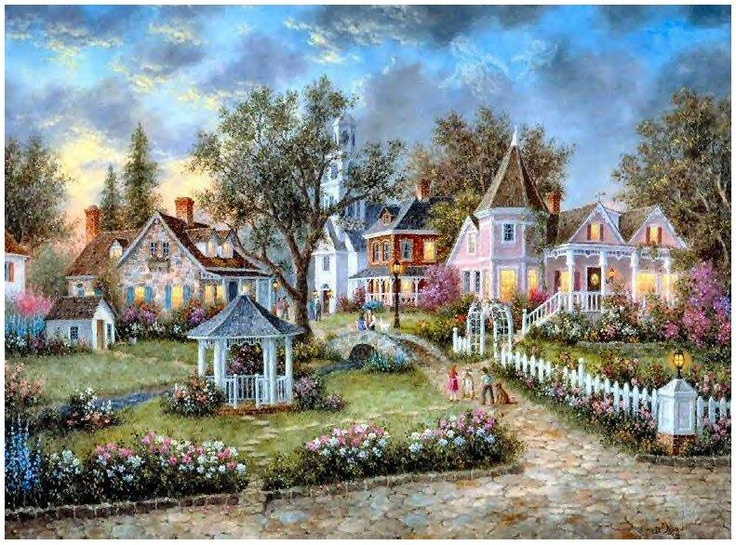 I have this puzzle hanging in my Living room.Love it.  Dennis Lewan Puzzle