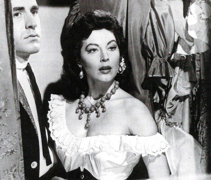 "Ava Gardner en ""La Condesa Descalza"" (The Barefoot Contessa), 1954"