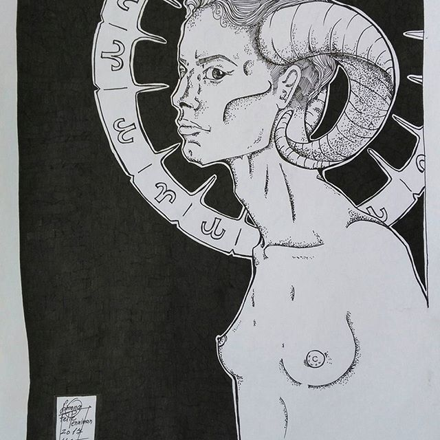 Name: Beranem od 21.3 až 20.4  #beran #fotka_mesice #zverokruh #ram #ramzodiac #zodiac #astrology #artnude #artwork #art🎨 #art #artist #nude #woman #graphic #graphicportrait #graphicart #graphicartwork #inmyfairytail #shorthair #blackandwhite #black #and #white #horns #pointelism