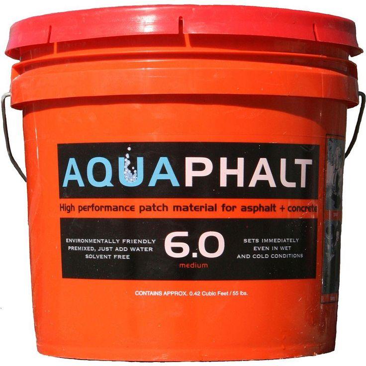 Aquaphalt 3.5 Gal. Permanent Asphalt Repair Patch Black                                                                                                                                                                                 More