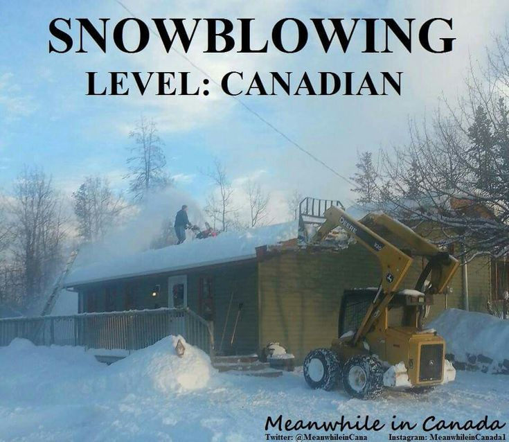 Snow blowing Level Canadian