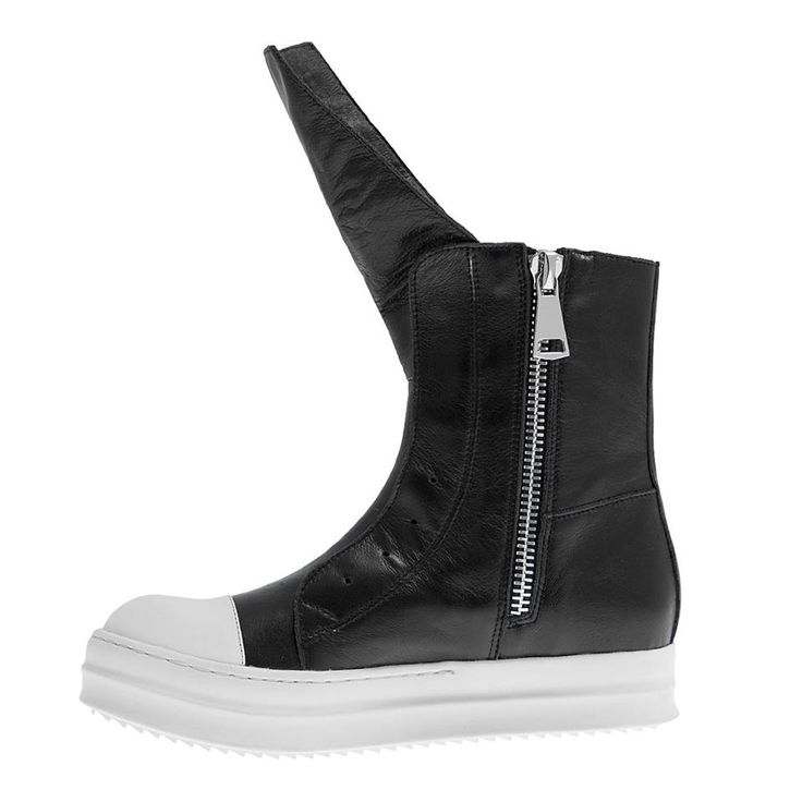 A/W 2014-15 #Booties #shoes #Fred #collection #outfit #fashion #style #black #white #leather