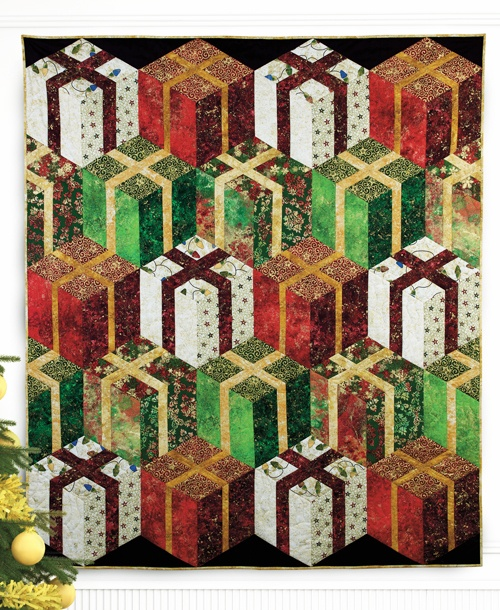 """""""Stacked Presents"""" by Patti Carey (from The Quilter Quilting for Christmas Holiday 2012 issue)"""