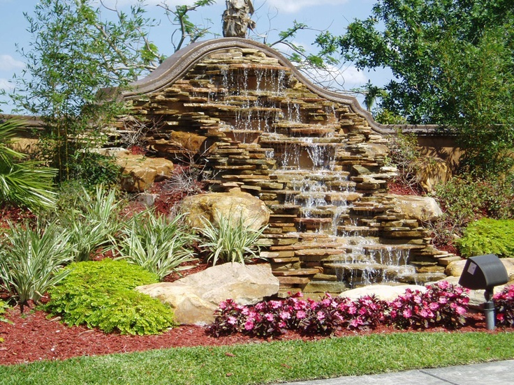 Outdoor Ponds And Waterfalls