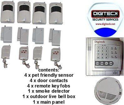 Digiteck K8A-4 ZONE AUTODIAL WIRELESS SECURITY ALARM SYSTEM.BURGLAR ALARM SYSTEM WITH INTERGRATED FIRE ALERT, No description (Barcode EAN = 5055751526373). http://www.comparestoreprices.co.uk/january-2017-2/digiteck-k8a-4-zone-autodial-wireless-security-alarm-system-burglar-alarm-system-with-intergrated-fire-alert-.asp