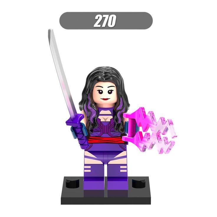 Marvel Super Heroes X-men Апокалипсис Псайлок Minifigures 50 шт./лот Здание Игрушка Совместим с Legoes