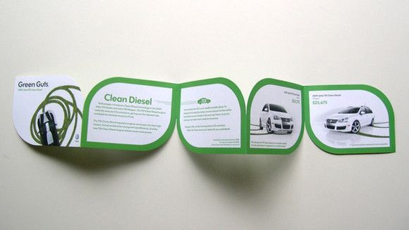 "I like the shape of this brochure...it's very ""green"" :)  Volkswagen"