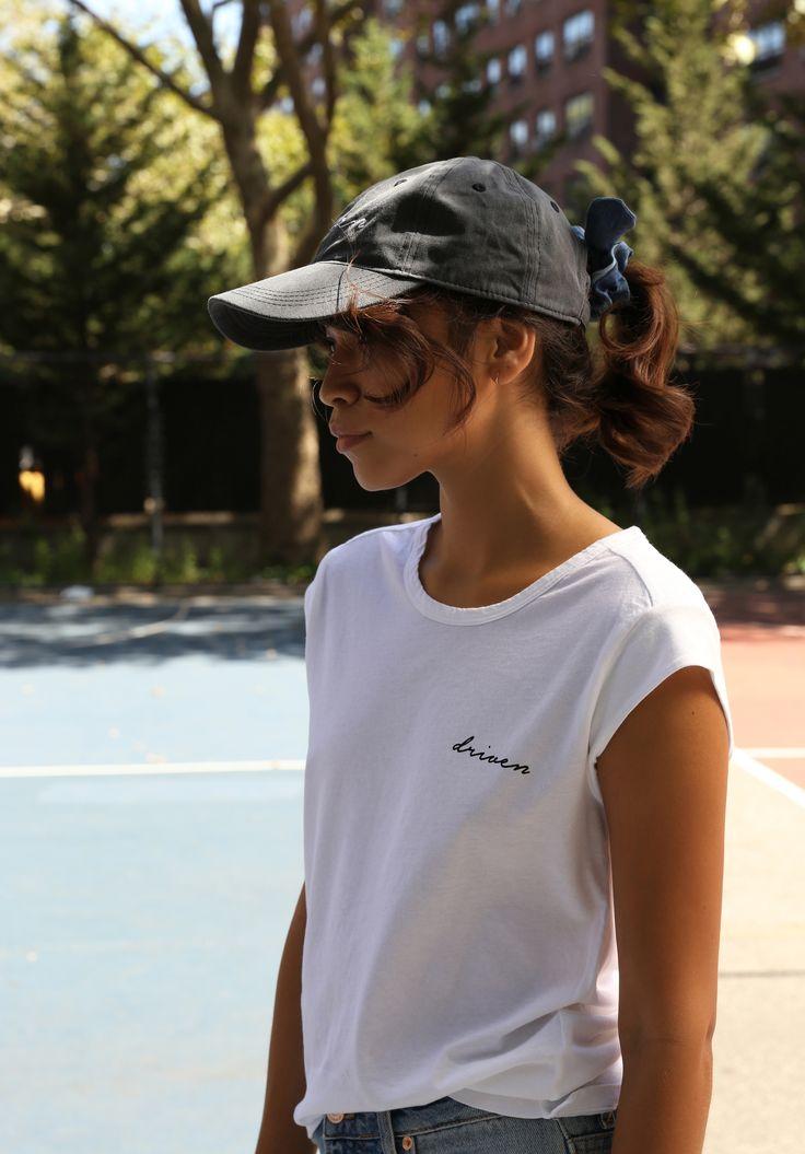 Who's that girl La, la, la… @jes_estrada sporting our Driven Tee & Cap. Available online today #MishaVaidya