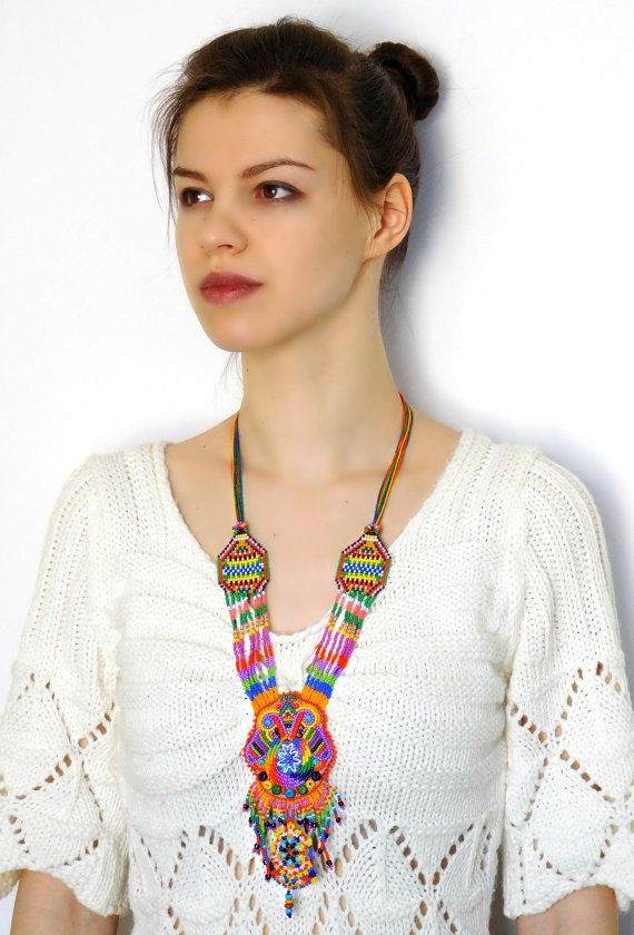 Perlage amérindien collier d'amérindienne par handembroideryOlga
