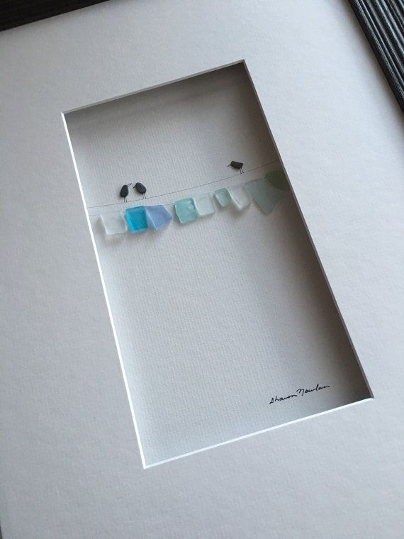 12 by 16 sea glass laundry line by sharon nowlan