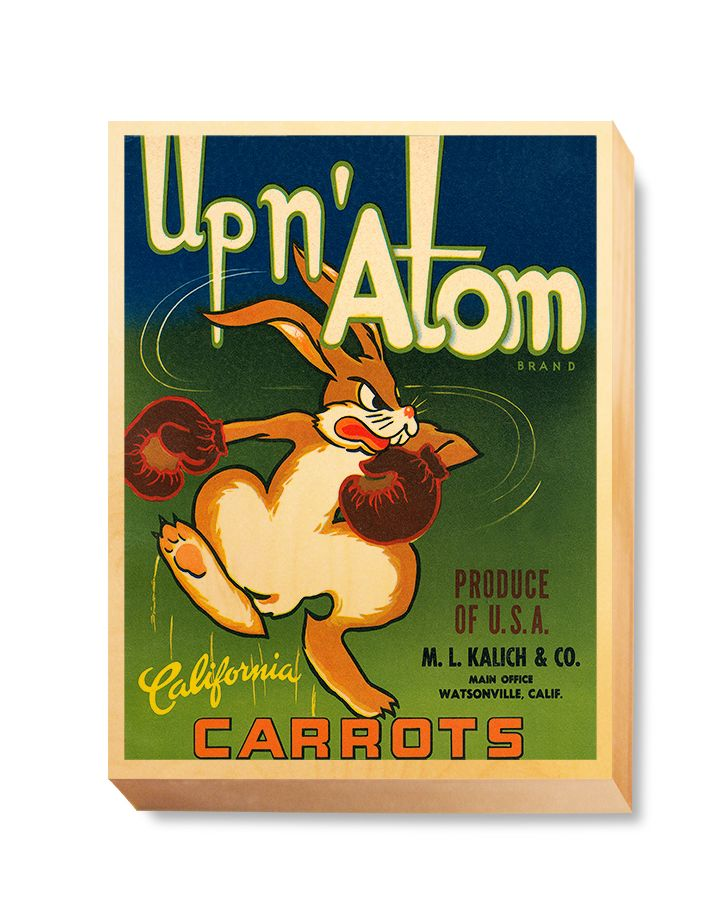 LAB 034 Crate Label Up N' Atom Carrots