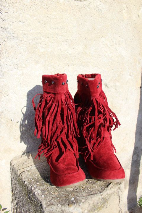 Boho bootsslouch boots tassel boots fringe boots bottes a