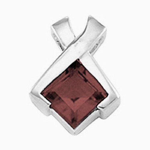 Platinum Princess Cut Smoky Quartz Pendant Gems-is-Me. $653.80. This item will be gift wrapped in a beautiful gift bag. In addition, a 'gift message' can be added.. FREE PRIORITY SHIPPING. Save 40% Off!
