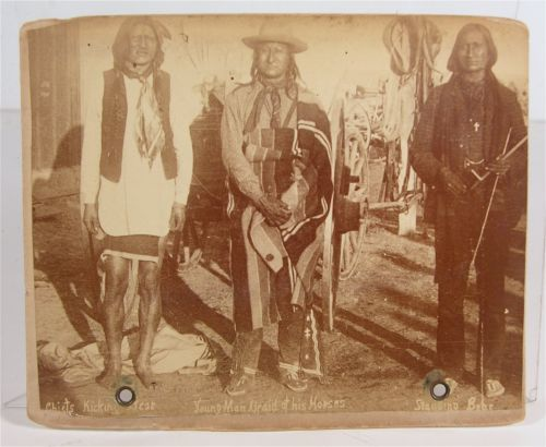 1891 Wounded Knee Indian Massacre Cabinet Card Photo of Three Sioux Chiefs | eBay