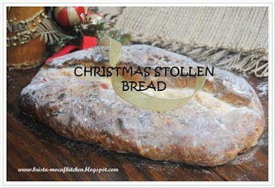 KRISTA MOCAF KITCHEN: Christmast Stollen Bread - Not Gluten Free