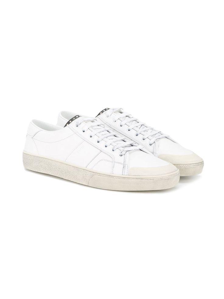#saintlaurent #new #men #white #sneakers #studds #sporty #style www.jofre.eu