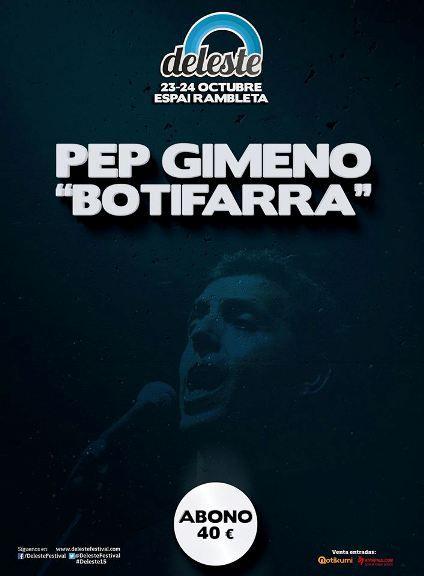 """Pep """"Botifarra"""" al Deleste 2015, música tradicional valenciana entre el rock y el pop - http://www.valenciablog.com/pep-botifarra-al-deleste-2015-musica-tradicional-valenciana-entre-el-rock-y-el-pop/"""