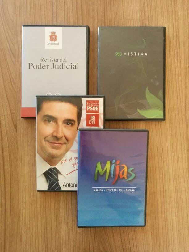 DVDs para distintas entidades estatales.