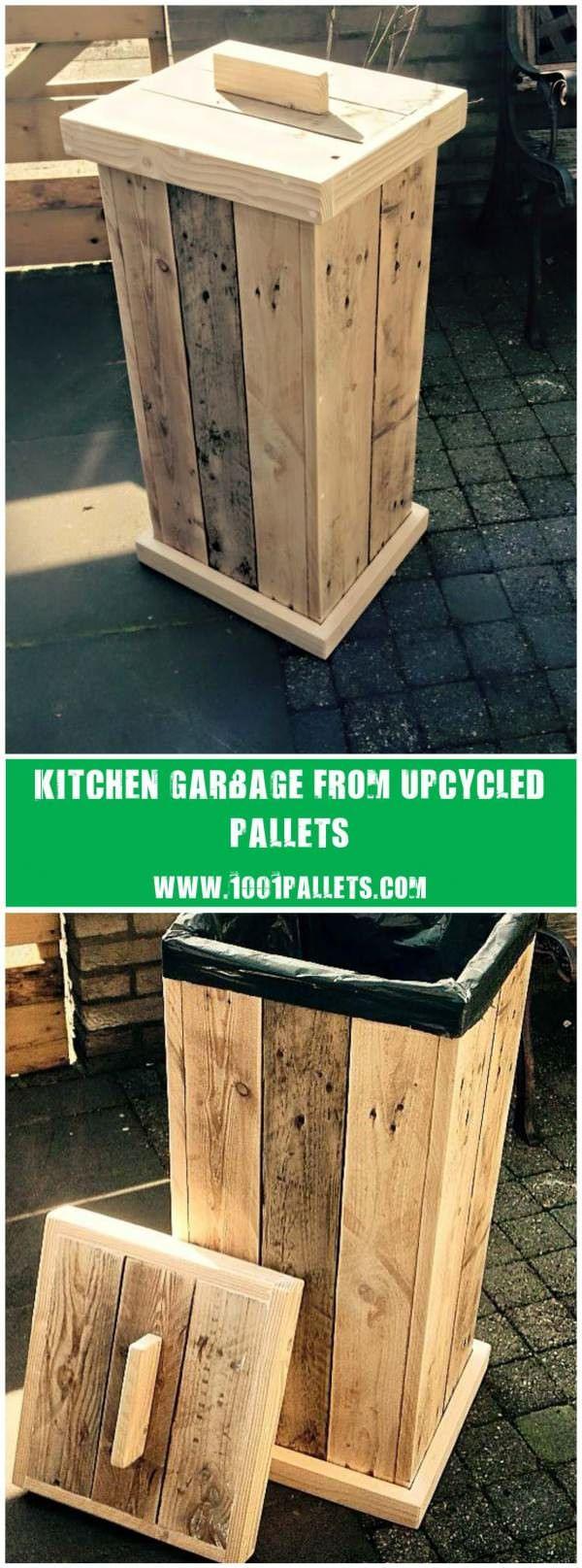 Virtual craft club diy vinyl wood slice sugar bee - Pallet Kitchen Garbage Pallet Craftsdiy