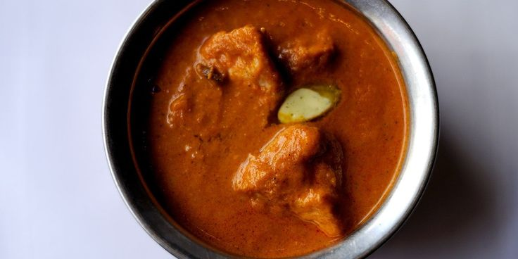 Chicken is simmered in flavourful makhani sauce in Alfred Prasad's mouth-watering butter chicken (Murgh makhani) recipe.