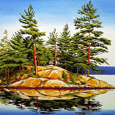 """Late Summer North Shore Georgian Bay"" by Margarethe Vanderpas"