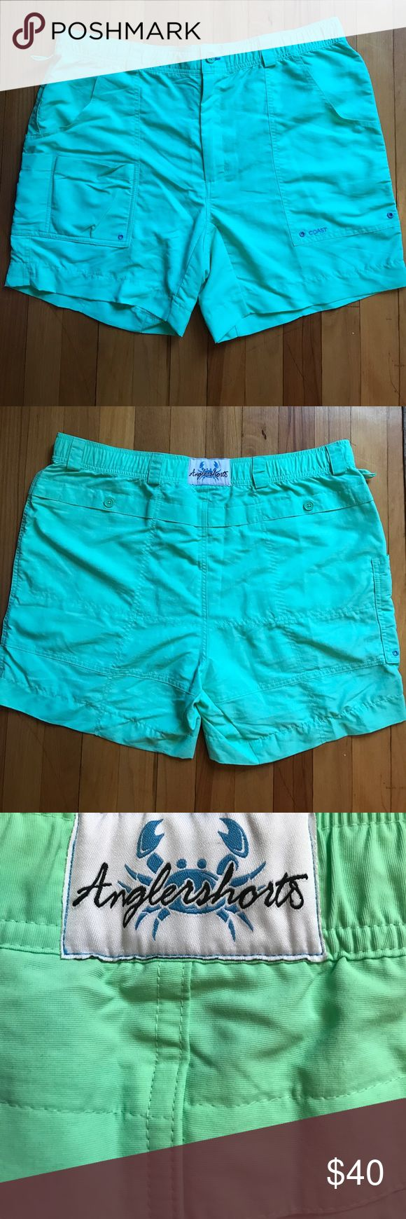"Coast ""angler"" shorts new without tags! can be worn as bathing suit or regular shorts. light blue/green color (color more similar to last 2 pictures). Coast Shorts"