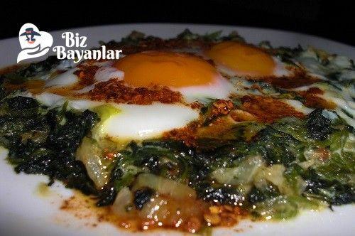Yumurtalı Ispanak Tarifi Bizbayanlar.com  #Baharat, #Ispanak, #Yağ, #Yumurta,#SebzeYemekleri http://bizbayanlar.com/yemek-tarifleri/sebze-yemekleri/yumurtali-ispanak-tarifi/