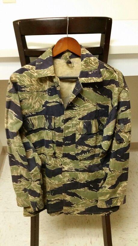 Us Military Vietnam Tiger Stripe Camouflage Blouse Camo