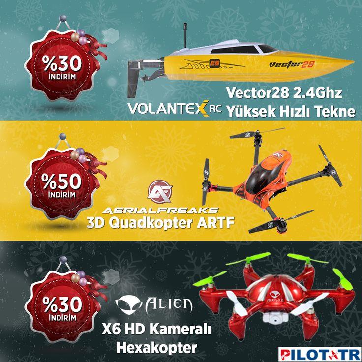 Yılbaşına Özel %50'ye Varan İndirimler! http://www.pilottr.com/indirimli-urunler/dron/ http://www.pilottr.com/indirimli-urunler/model-tekneler/  #pilottr #volantexrc #aerialfreaks #alienroa #modeltekne #drone #hexacopter #quadkopter #rcmodel #yılbaşı #kampanya #indirim #büyükindirim