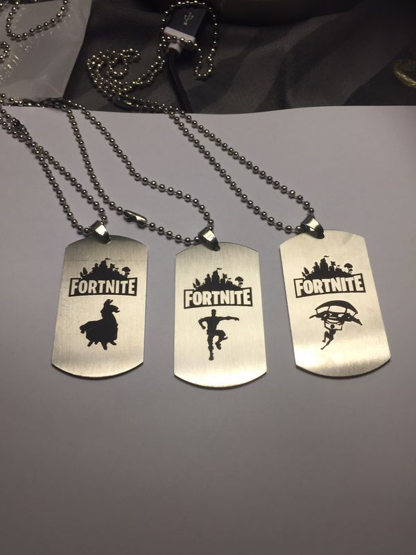 New Never Used Fortnite Dog Tag Necklace 5 Each Loot Llama Or Glider Guy Or Floss Guy I Have Several Of Boy Birthday Parties Dog Tag Necklace Boy Birthday