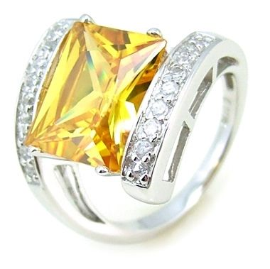 Bague argent bijou chic en diamant de zirconium.
