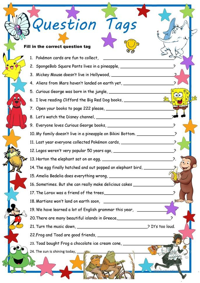 Curious George & Co. Meet Question Tags   This or that ...
