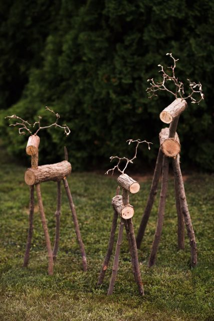 Handmade Rustic Reindeer for the Home or Gift Giving: