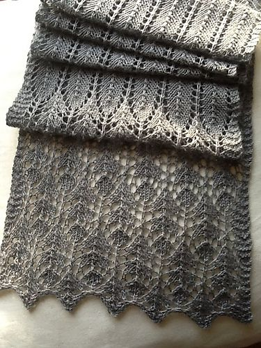 Ravelry: Thistle pattern by tincanknits @Becky Mitchell I want this for my next scarf.