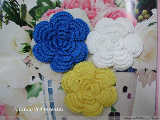 Crochet Rose Pattern Step By Step : [Crochet] detailed tutorial teaches you step by step hook ...